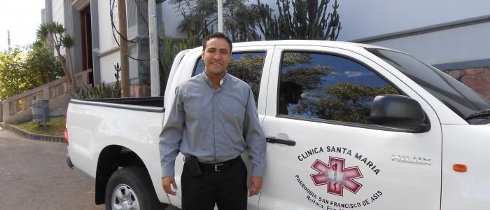 1 - P Gerardo w new clinic truck - Suyapa Feb 21, 2014