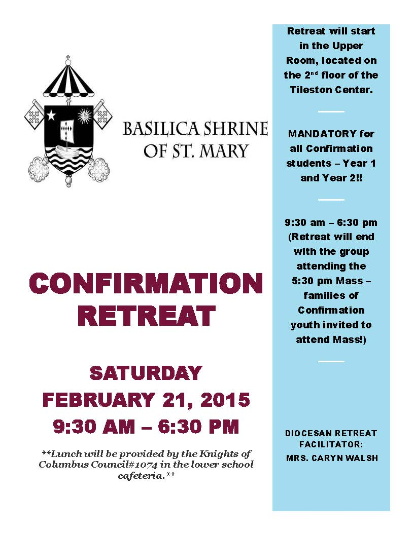 Diocesan Confirmation Retreat Flyer