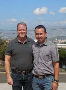 John McLaughlin & Fr. Gustavo in Tegucigalpa