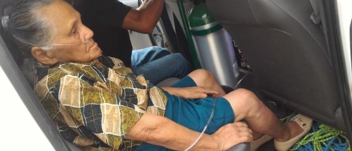 Patient in truck