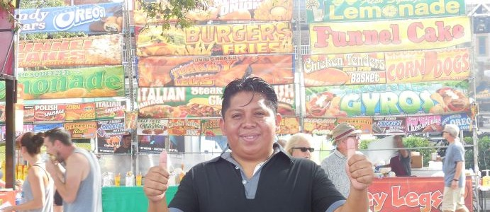 Fr. Renan at Riverfest