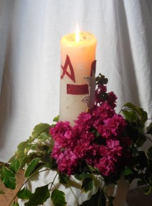 Easter Candle Glows in San Marcos