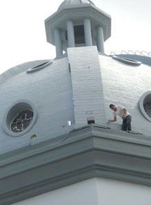 Worker on Dome of Suyapa