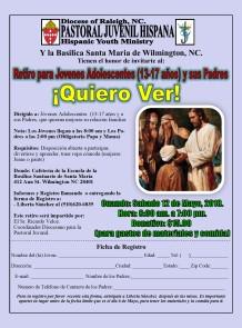Flyer Retiro Quiero Ver Wilmington Mayo 12 2018