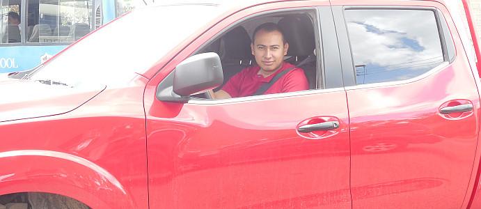 Gustavo in Truck