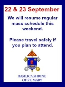 regular mass schedule