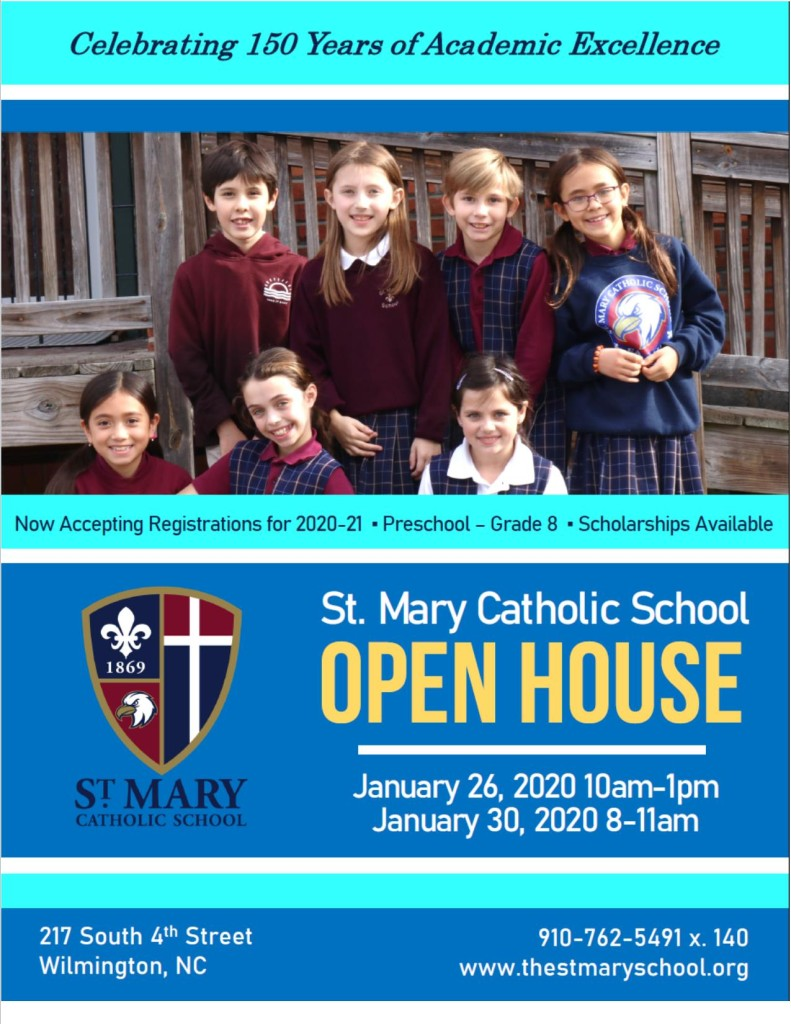 St. Mary Catholic School Open House 2020