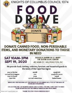 St Mary Food Drive 19sep20