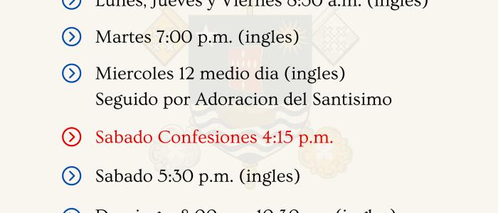 Misas y Confesiones